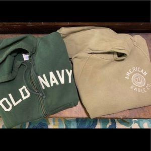 LOT 2 American Eagle & Old Navy hoodies sz S